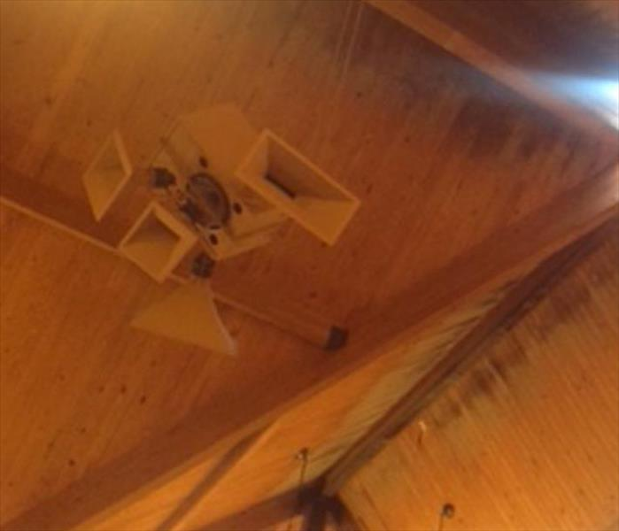 WOODEN CHURCH CEILING WATER MOLD DAMAGE