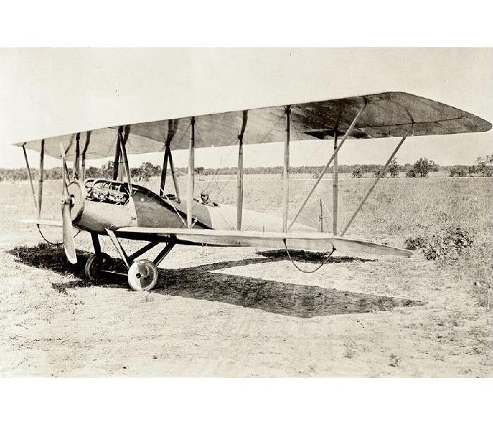 black and white picture of antique air plane